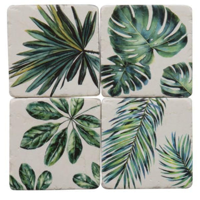 Jungle Resin Drink Coaster Set - The Base Warehouse