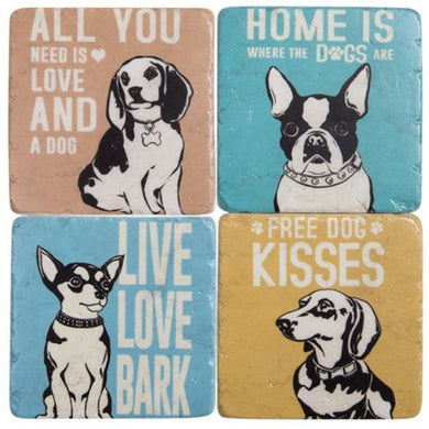 Dog Resin Drink Coaster Set - The Base Warehouse