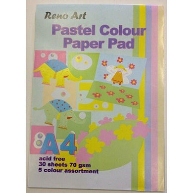 30 Sheets A3 Pastel Colour Paper Pad - 80gsm - The Base Warehouse