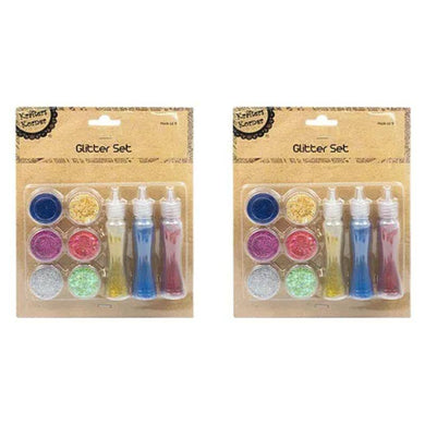 9 Pack Craft Glitter Set - The Base Warehouse