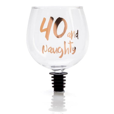 40 And Naughty Rose Gold Tipple Topper - The Base Warehouse