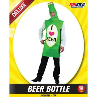 Mens Deluxe Beer Bottle Costume - The Base Warehouse