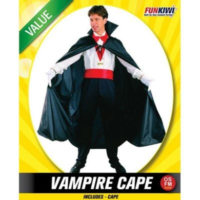 Mens Value Vampire Cape Costume - The Base Warehouse