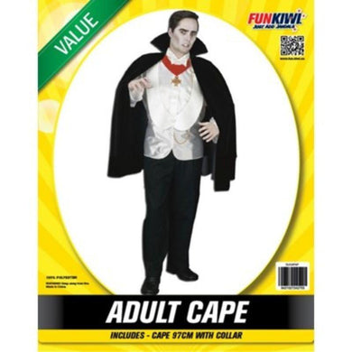 Mens Value Black Cape Costume - The Base Warehouse