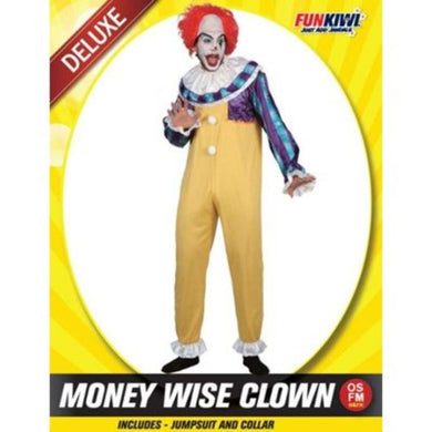 Mens Money Wise Clown Costume - The Base Warehouse