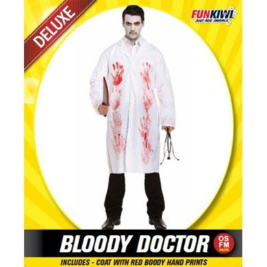 Mens Deluxe Bloody Doctor Costume - The Base Warehouse
