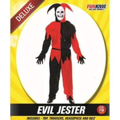 Mens Deluxe Evil Jester Costume - The Base Warehouse