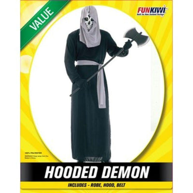 Mens Value Hooded Demon Costume - The Base Warehouse