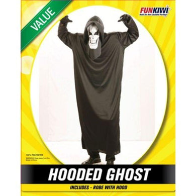 Mens Value Hooded Ghost Costume - The Base Warehouse