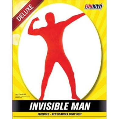 Mens Deluxe Red Invisible Man Costume - The Base Warehouse