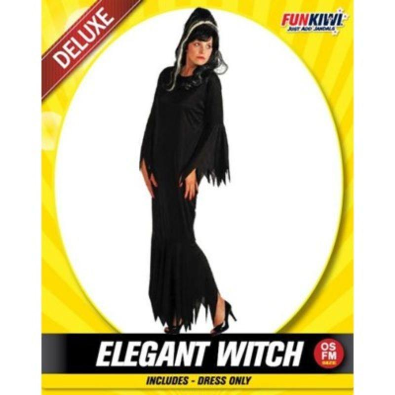 Womens Deluxe Elegant Witch Costume