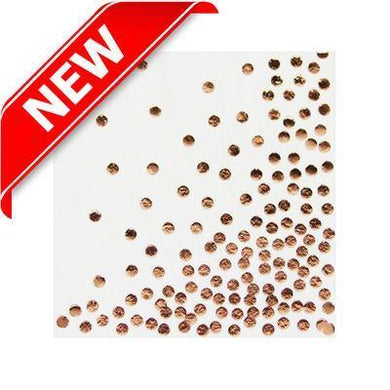12 Pack Rose Gold Dots Serviette - The Base Warehouse