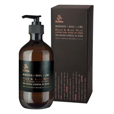 Equilibrium - Mandarin, Basil & Lime Hand & Body Wash - 500ml - The Base Warehouse