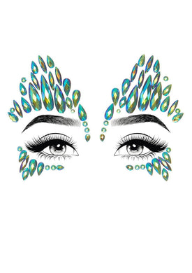 Sky Adhesive Face Jewels Sticker - The Base Warehouse