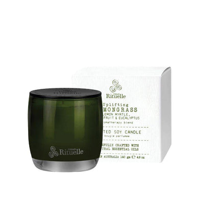 Flourish Organics - Lemongrass, Lemon Myrtle, Grapefruit & Eucalyptus Soy Candle - 140g - The Base Warehouse