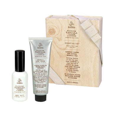 Flourish Organics - Vanilla, Lavender & Geranium Essentials Set - The Base Warehouse