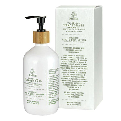 Flourish Organics - Lemongrass, Lemon Myrtle, Grapefruit & Eucalyptus Hand & Body Lotion - 500ml - The Base Warehouse