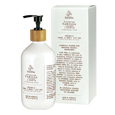 Flourish Organics - Vanilla, Lavender & Geranium Hand & Body Lotion - 500ml - The Base Warehouse