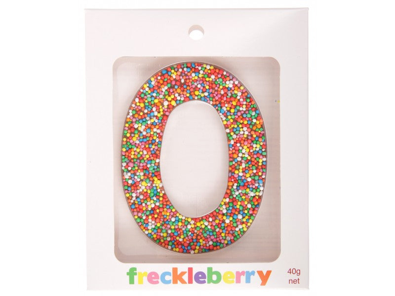Freckle Letter O Chocolate - 10cm x 6cm