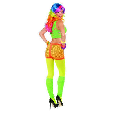 Orange Sexy Club Candy Neon Fishnet Shorts - The Base Warehouse