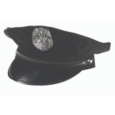 Black Policemen Hat - The Base Warehouse