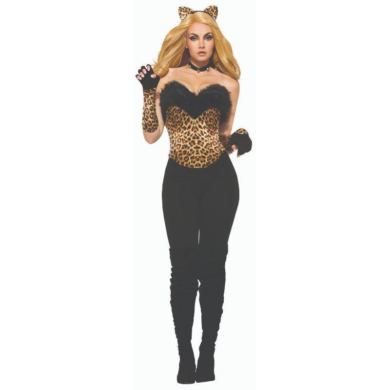Adults Leopard Zip Up Jumpsuit