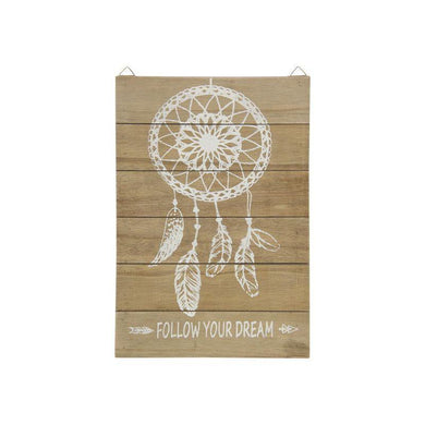 Follow Your Dreams Wall Plaque - 36cm x 24cm - The Base Warehouse