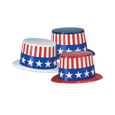 American Plastic with Patriotic Band Top Hat - The Base Warehouse