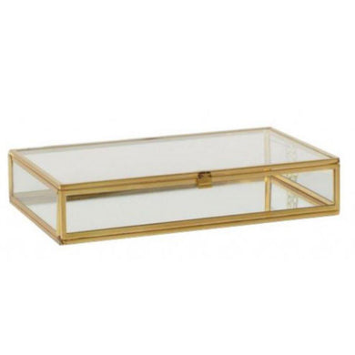 Lianna Glass Display Jewelry Box - 21cm x 11cm x 13cm - The Base Warehouse