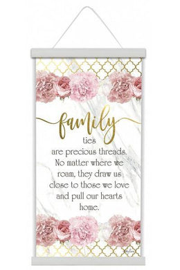 Blush Crush Family Canvas Scroll - The Base Warehouse