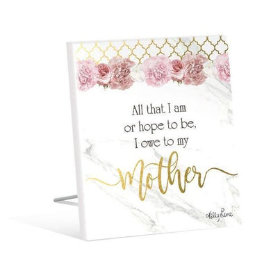 Blush Crush Mother Sentiment Plaque - The Base Warehouse