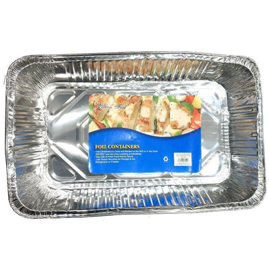 Rectangle Foil Tray - 53cm x 34cm x 8cm - The Base Warehouse