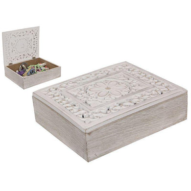 Filigree Carved Box - 24cm x 19cm - The Base Warehouse