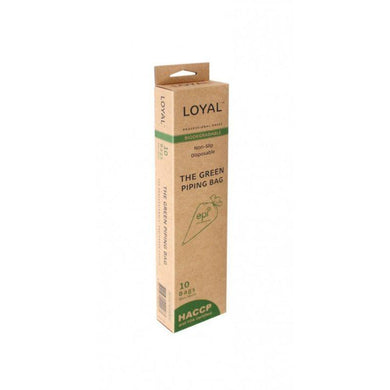 LOYAL 10 Pack Biodegradable Green Piping Bags - 46cm - The Base Warehouse