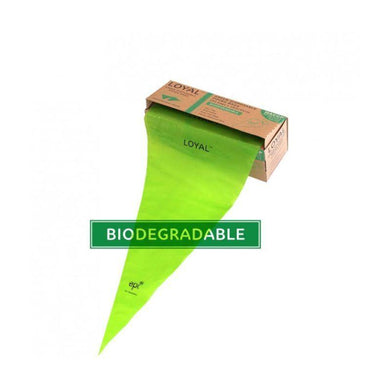 LOYAL 100 Pack Biodegradable Green Piping Bags in Box - 46cm - The Base Warehouse