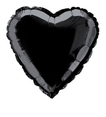 Black Heart Foil Balloon - 45cm - The Base Warehouse