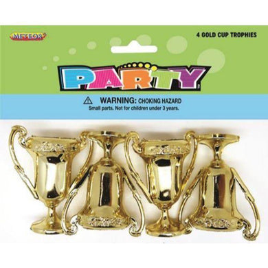 4 Pack Mini Gold Cup Trophy - The Base Warehouse