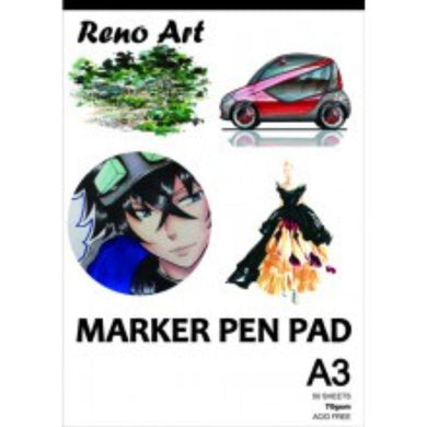 A3 70gsm Marker Pen Pad - 50 Sheets - The Base Warehouse