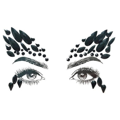 Black Swan Adhesive Face Jewels - The Base Warehouse