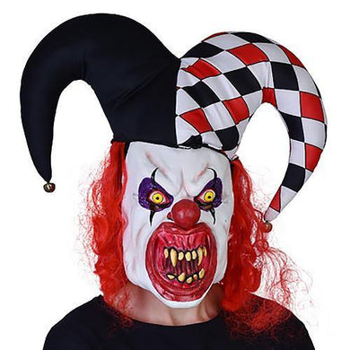 Horror Court Jester Clown Mask - The Base Warehouse