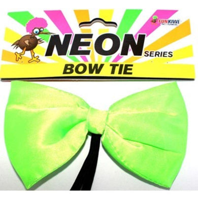 Adult Neon Green Bowtie - The Base Warehouse