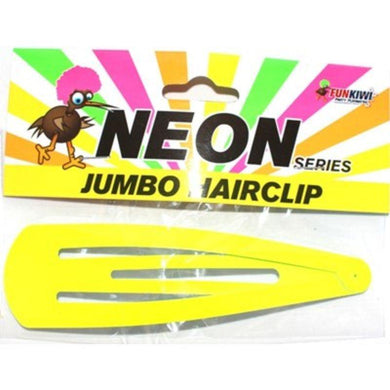 Neon Yellow Jumbo Hair Clip - The Base Warehouse