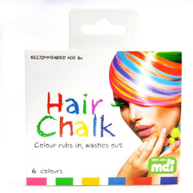 Vibrant 6 Colour Hair Chalk - The Base Warehouse