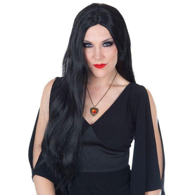 Black Morticia Wig - The Base Warehouse