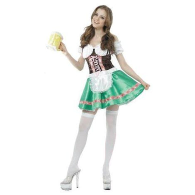 Womens Oktoberfest Green Beer Maid Costume - The Base Warehouse