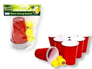 Beer Pong Game Set - 8 Cups & 3 Balls - The Base Warehouse