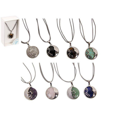 8 Assorted Design Reiki Healing Stone Necklace - The Base Warehouse