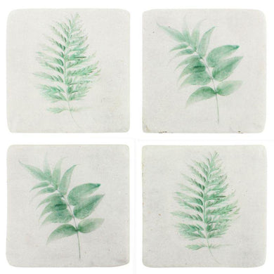 4 Pack Tracie Fern Resin Coasters - The Base Warehouse
