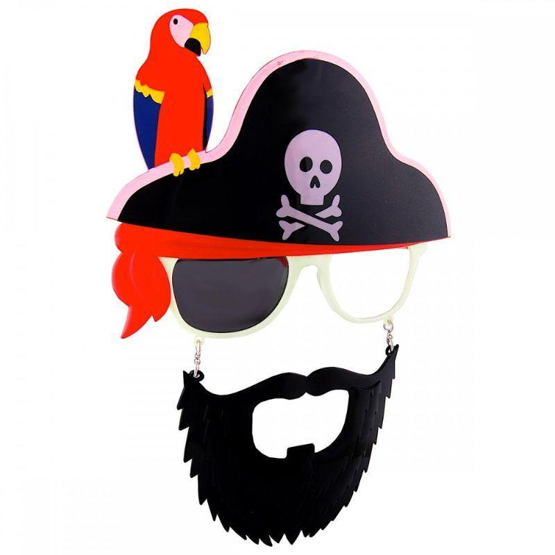 Bearded Pirate with Parrot SunStaches