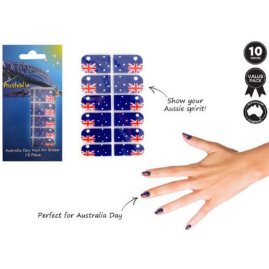 10 Piece Australia Day Nail Art Sticker - The Base Warehouse